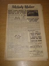 MELODY MAKER 1948 JANUARY 17 HARRY LEADER JAZZ FESTIVAL HENRY HALL +