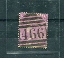 UK (GREAT BRITAIN) 1865 stamp  6p - plate 8 -  QUEEN VICTORIA  used