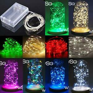 LED String Fairy Lights Craft Party Garden Coloured Spring Summer Decorations