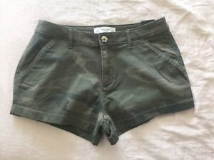 """New Abercrombie & Fitch Women Camouflage Shorts Sz 4 / 27"""""""