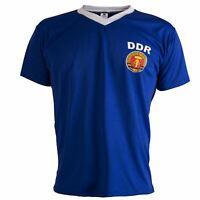 Deutsche Demokratische East Germany DDR 1970's Retro Football Shirt Mens Top