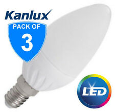 3x Kanlux 4.5W SMD E14 LED High Lumen Candle Light Bulb Lamp 400lm Warm White