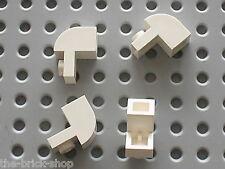 4 x White Brick curved 6091 LEGO / set 10225 5563 10212 10242 6290 8019 10220...