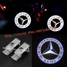 2x LED 3D Logo door Projector light For Mercedes-Benz 2001-2009 CLK W208 W209