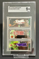 Graded SGC 9 2003-04 Topps Rookie Matrix LeBron James Chris Bosh Kirk Hinrich RC
