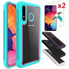 For Samsung Galaxy A10e A20 20S A30 A50 A51 A71 Phone Case+HD Tempered Glass