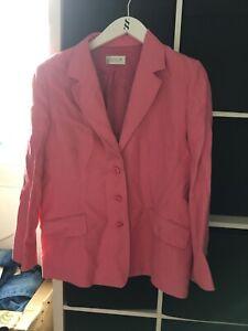 Platinum Size 18 Pink Linen Suit Jacket (S13)