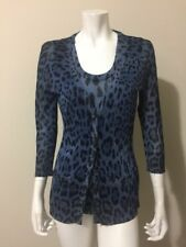 Dolce & Gabbana Leopard Animal Print Tank Top Cardigan Sweater Twinset Size M L