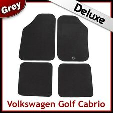 VW Golf Mk1 Cabriolet 1979-1993 Tailored LUXURY 1300g Carpet Floor Mats GREY