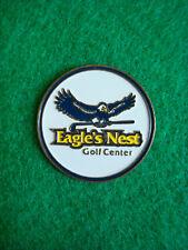 "Eagle's Nest Golf Center Ball Marker 1"" Metal Flat Coin Ahead Putting"