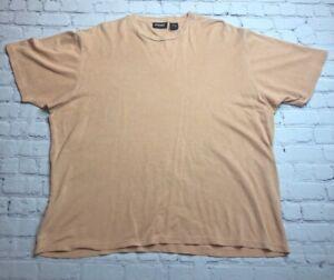 Ping Mens Golf T-Shirt Beige Textured Silk Blend Short Sleeve Crew Neck Top M