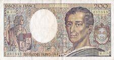 BILLET 200 francs . MONTESQUIEU . 1992 . EXCELLENT ETAT . 237575 / M.118 .FRANCE