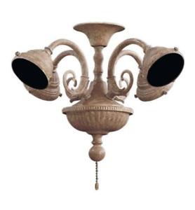 MinkaAire MA K9335 Fan Light Kit, Etruscan Gold