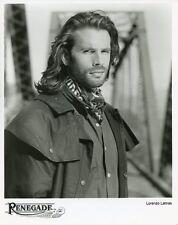 LORENZO LAMAS HUNKY PORTRAIT RENEGADE ORIGINAL 1996 TV PRESS PHOTO