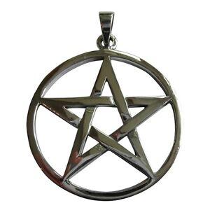Sterling  Silver  (925)  Pentagram Star  ( 10 gram ) Pendant   !!   Brand New !!