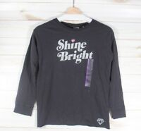 Girl's Hasbro Junk Food Shine Bright Long Sleeve Graphic T-Shirt Black