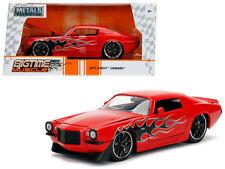 1971 Chevy Camaro Die-cast Car 1:24 Jada 8 inch Red w Flames
