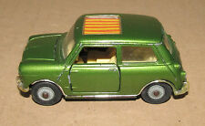 CORGI TOYS BMC MINI COOPER S Auto in verde con tetto apribile