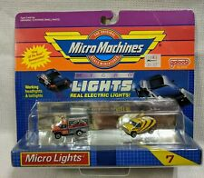 New VTG Micro Machines 1989 Micro Lights #7 Galoob Real Electric Lights Ford Van