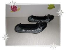 78b14001aed2 G - Magnifiques Chaussures Ballerines Argenté Vernis Gris Geox Pointure 35