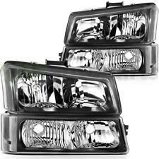 For Chevrolet Silverado 2003 2007 Headlight Assembly Pair Clear Lens Replacement Fits More Than One Vehicle