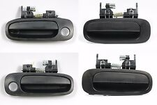 Set of 4 Outside Door Handle Textured Black for 98-02 Toyota Corolla