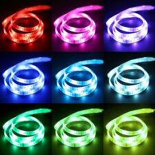 1M/2M LED RGB Stripe Leiste TV Hintergrund Beleuchtung Lichterkette Batteriebox