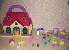 Vintage Blue Box----Tiny Dreams Carry Along Doll House----Polly Pocket Bluebird