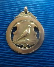 Super 9ct Rose Gold Pigeon Fob Medal h/m 1936 Highfield Homing Society Gateshead