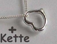 925 ECHT SILBER *** Kleine Herzkette Collier Herz Anhänger 10 mm + Kette