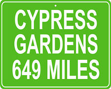 Cypress Gardens in Winter Haven, FL custom mileage sign your house