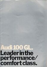 Audi 100 GL Saloon 1971-72 UK Market Sales Brochure