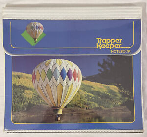 1980S VINTAGE TRAPPER KEEPER MEAD PORTFOLIO HOT AIR BALLOON Good Cond. 29096