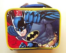 Batman Thermos Insulated Soft Lunch Kit / Bag - Navy Blue with Yellow Trim