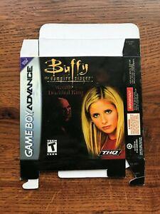 Buffy the Vampire Slayer Darkhul King Gameboy Advance Game Boy Empty Box Only
