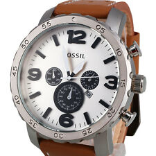 Fossil Hombres Relojes Automatic PU Leather Analog Quartz Wrist Watch Sport