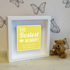 'The Bestest Mummy!' Box Frame with 3D Metal Artwork - Personalised Picture Gift
