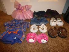 Build Bear Clothes Shoe Sandal Hello Kitty Swim Suit Dress Pink Denim Skirt Lot