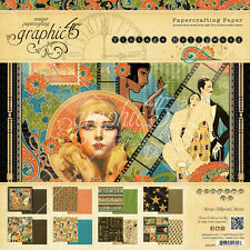 Graphic45 VINTAGE HOLLYWOOD 12x12 PAPER PAD scrapbooking 24 SHEETS