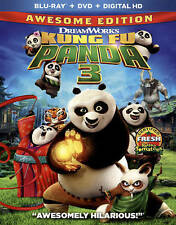Kung Fu Panda 3 Blu Ray (No DVD or Digital Copy) New Never Watched Free Shipping