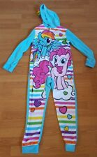 My Little Pony Hooded Pajamas One-Piece Fleece Girls Size Large
