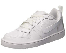 Nike Court Borough Low Unisex UK 6 Triple White Sneakers Trainers Shoes 839985