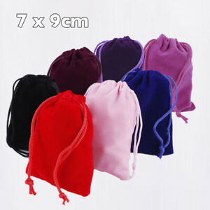 1pc Velvet 65mm x 85mm drawstring Bag pouch wedding gift party jewelry #1715