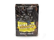 Yu-Gi-Oh! 60 Protèges Cartes/Pochettes/Sleeves SMALL Dragon Shield Noir / Black
