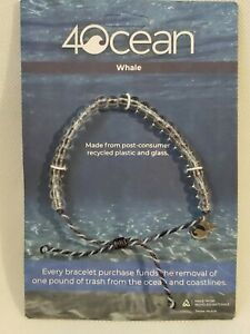 AUTHENTIC 4Ocean Limited Edition Hand Made Beaded Bracelet Whale NEW NIP