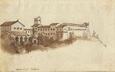 Johann Joachim Faber (zugeschrieben), Chiesa di Balbina, lavierte Tusche um 1800