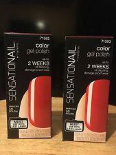 Lot of 2 Sensationail Gel Polish Scarlet Red
