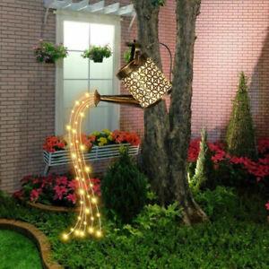 LED Watering Can String Light Solar Powered Outdoor Garden Art Lamp Decor 2021