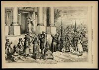 Separation of Church & State Nast political art Chinese 1871 wood engraved print