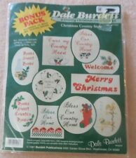 DALE BURDETT VINTAGE Counted Cross Stitch Kit CHRISTMAS ORNAMENTS - 10 DESIGNS